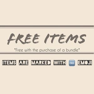 FREE ITEMS! Read for more details...